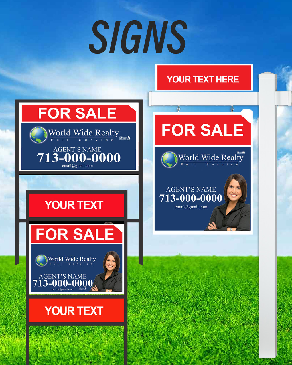 World Wide Realty Signs