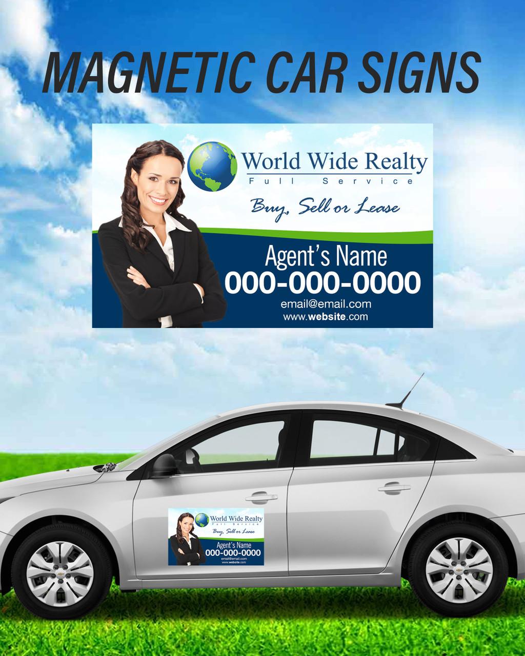 WWR 14x24 Car Magnets