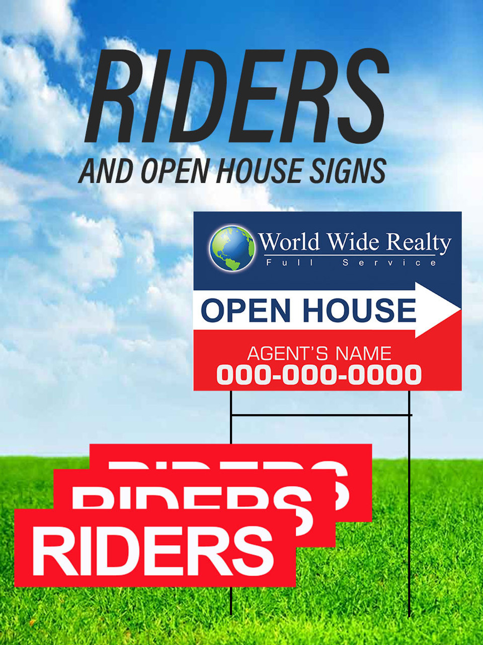Riders and Open House Signs