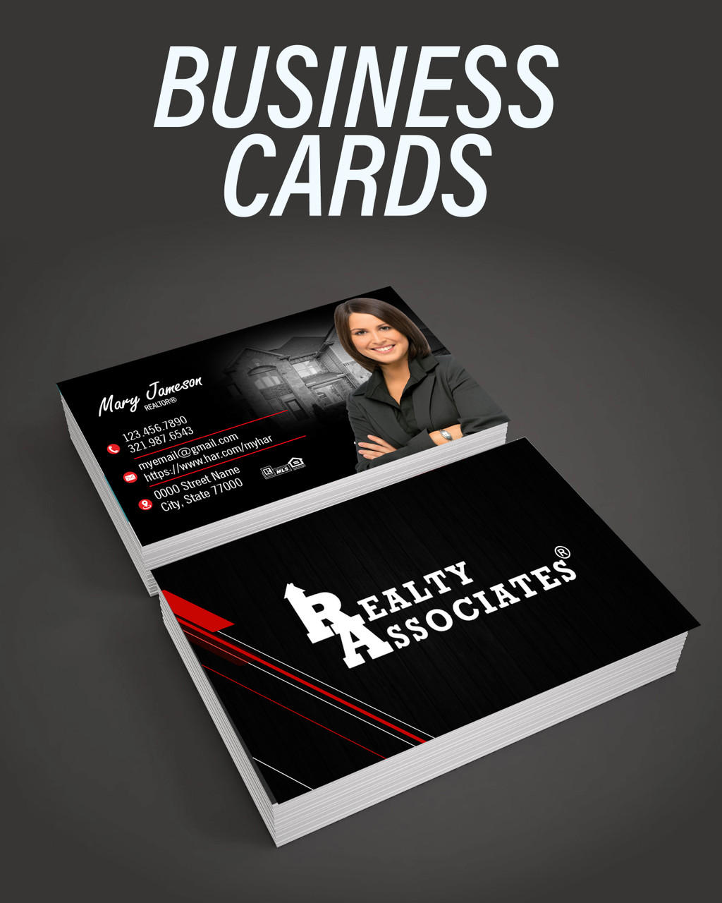 Realty Associates Business Cards