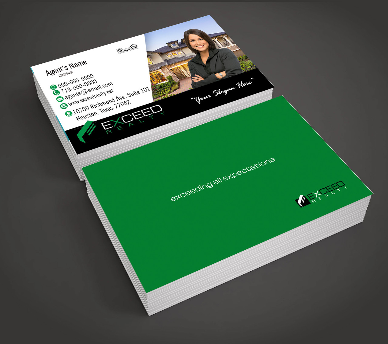 Exceed Realty Business Cards