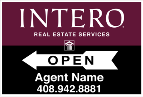 18x24 Intero Open House  Sign