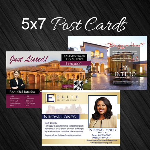 Real Estate 5x7 Custom Design Post Card
