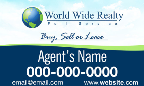WORLD WIDE REALTY CAR MAGNET  1