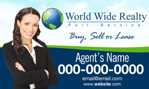 WORLD WIDE REALTY CAR MAGNET 2