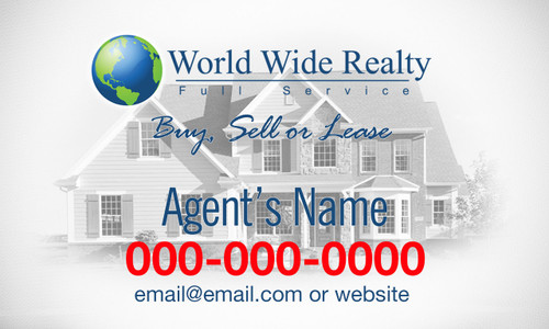 WORLD WIDE REALTY CAR MAGNET  3