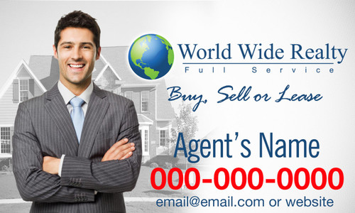 WORLD WIDE REALTY CAR MAGNET 4