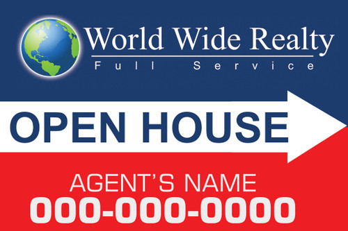 WWR 12x18 Open House Sign