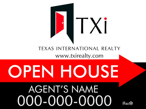 TXI 12x18 Open House Sign