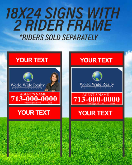 WWR 18X24 Double Rider Sign Unit