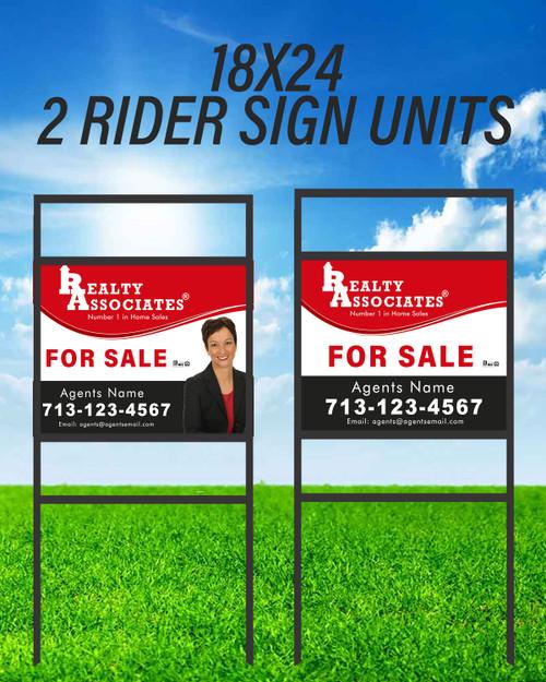RA Double Rider Sign Unit