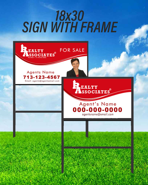 RA 18X30 SIGN WITH FRAME