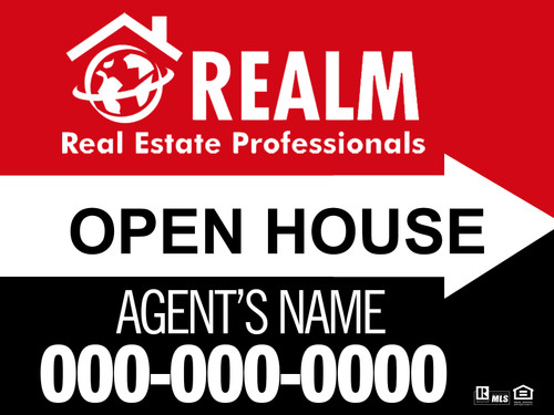 Realm 12x18 Open House Signs