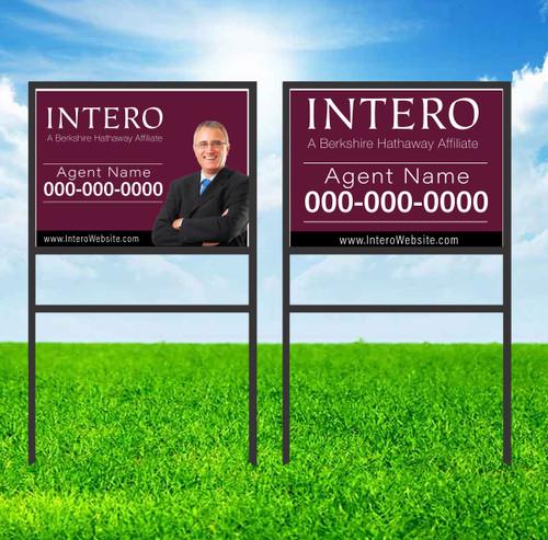 Intero 18X24 Single Rider Sign Unit 1