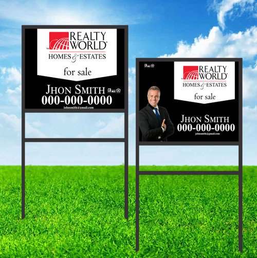 Realty World 18X24 Single Rider Sign Unit 2