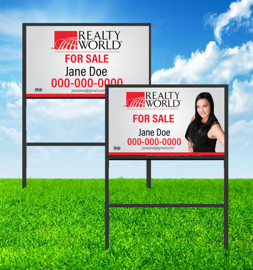Realty World 18X30 SIGN WITH FRAME 1