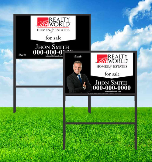 Realty World 18X30 SIGN WITH FRAME 2