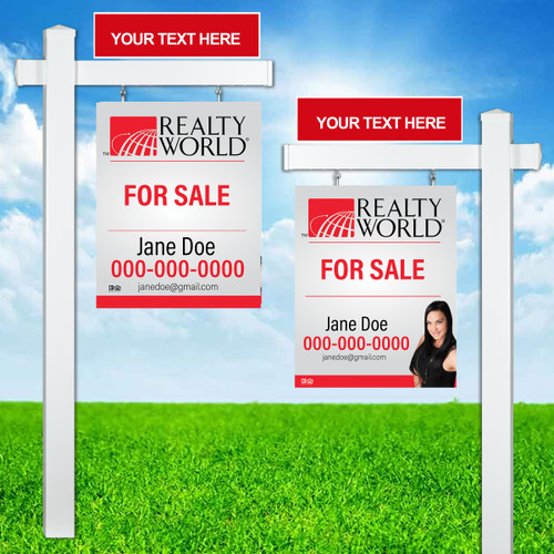 Realty World Colonial Post Sign Unit