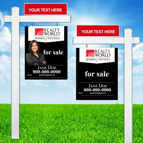 Realty World Colonial Post Sign Unit 2