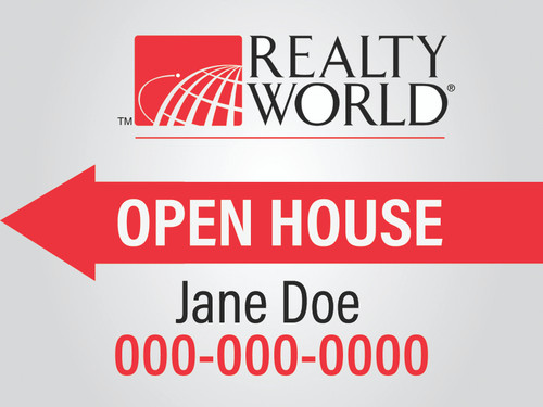 Realty World 12x18  Open House Sign