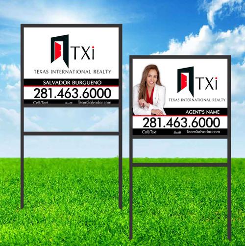 TXI 18X24 Single Rider Sign Unit