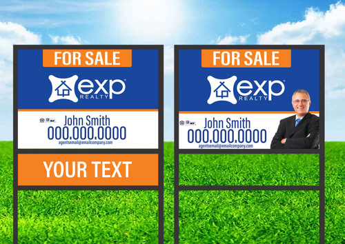 EXP Realty 18X24 Single Rider Sign Unit 3