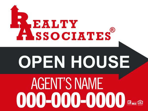 RA 12x18 Open House Sign
