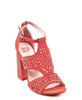 Amala Heeled Sandal in Coral