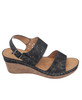 Cynthia Wedge Sandal in Black