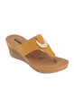 Genelle Wedge Sandal in Yellow