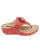 Allie Low Wedge Sandal in Red