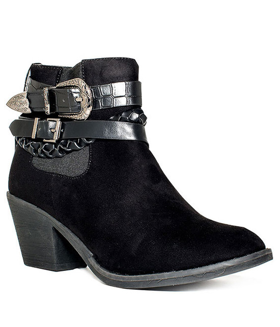 Ives Country Buckle Bootie in Black
