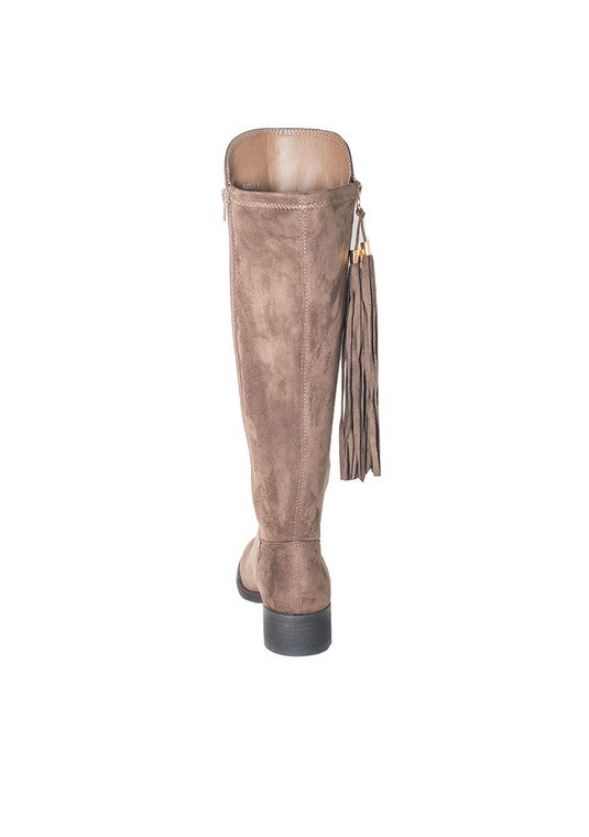 Marlo High Rise Boots in Taupe