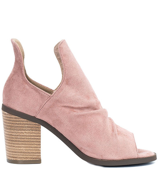 Susan Open Toe Bootie in Blush