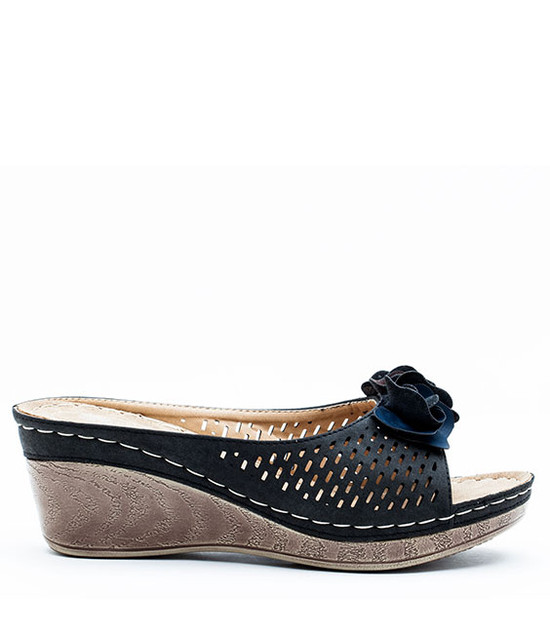 Good Choice Shoes Julliet Slip On Wedge Black