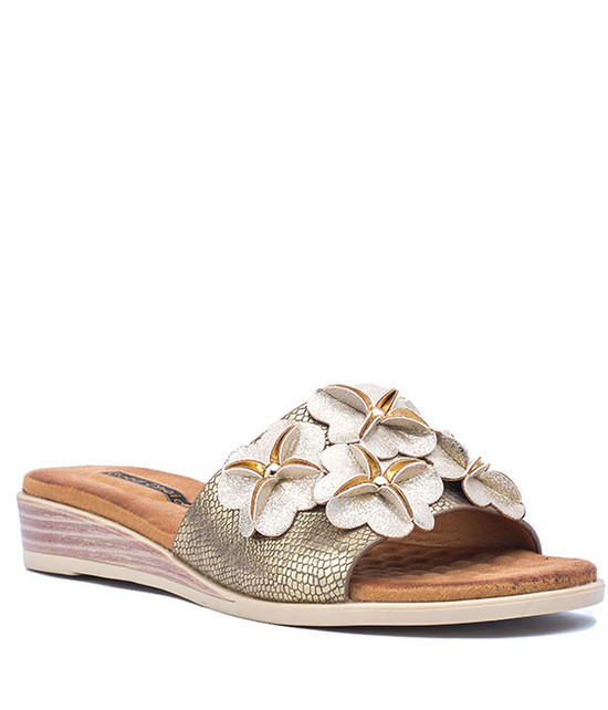 Lainey Slip - On Memory Foam Gold