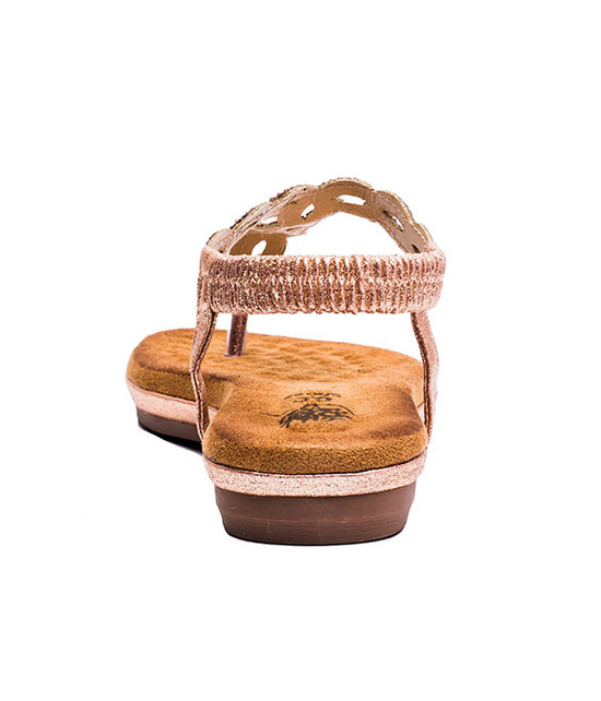 Azura Women MF Sandals Rose Gold