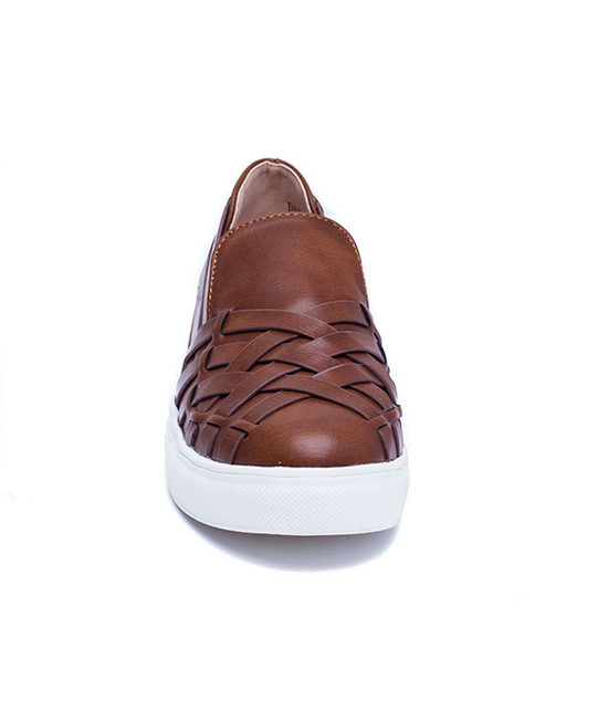Gc. Shoes Dantelle Silp On Women Sneaker Cognac