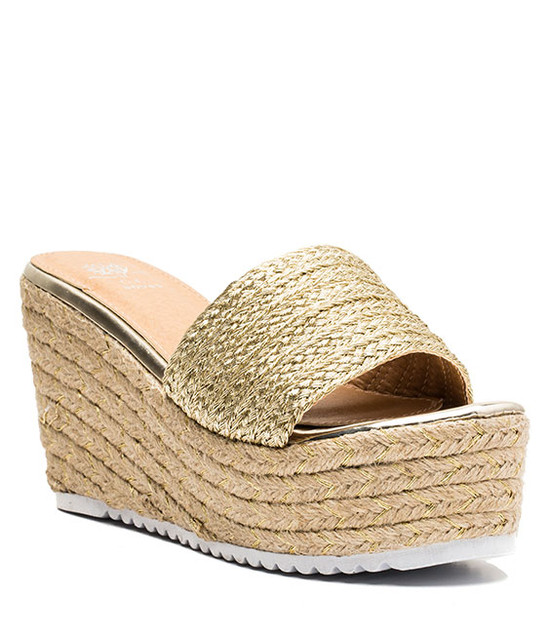 Flo Super Comfortable Wedge Gold
