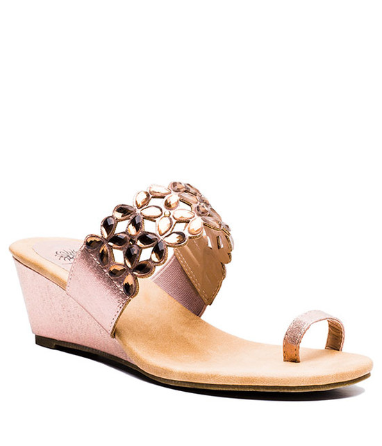 Jane Slip On Women Sandal Rose Gold