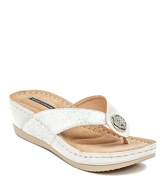 Dafni Slip On Sandals in White