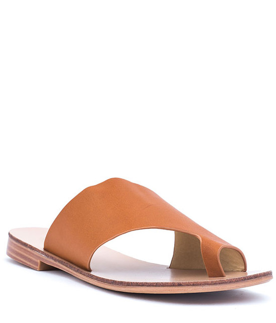 Danni Slip On Flat Sandals Tan