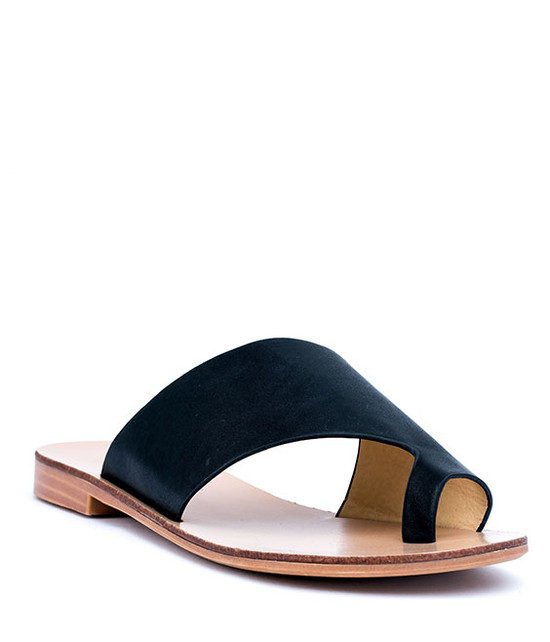 Danni Slip On Flat Sandals Black