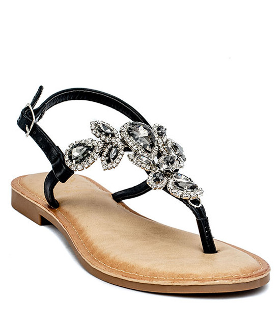 Cristal Summer Sandal Black