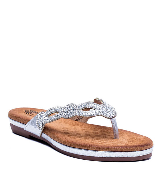 Gc. Shoes Linnet Memory Foam Sandal Silver