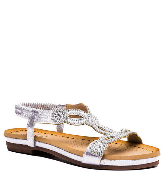 Gc. Shoes Gloria Sandals Silver