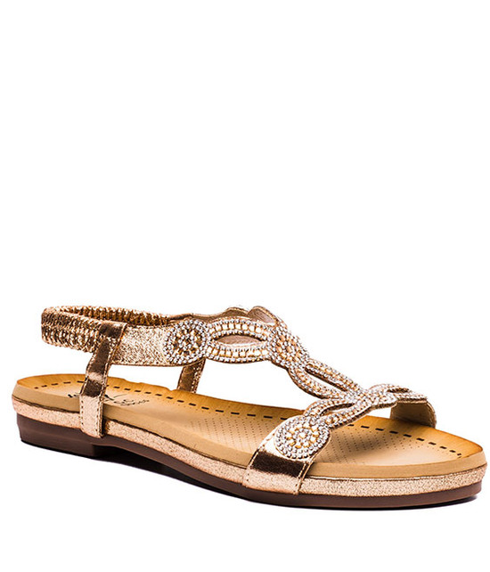 Gloria Sandals Rose Gold