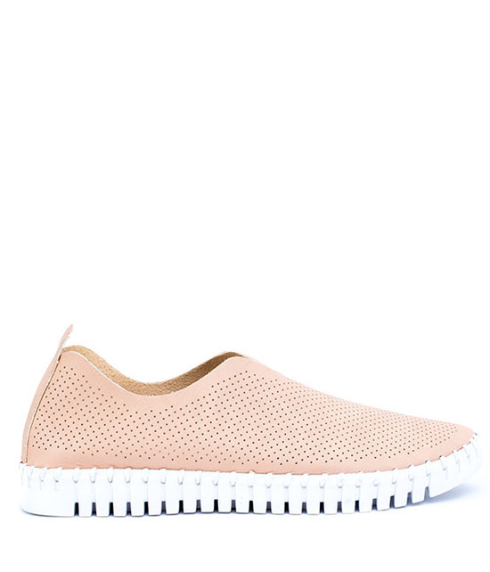 Amber Slip On Loafer in Blush