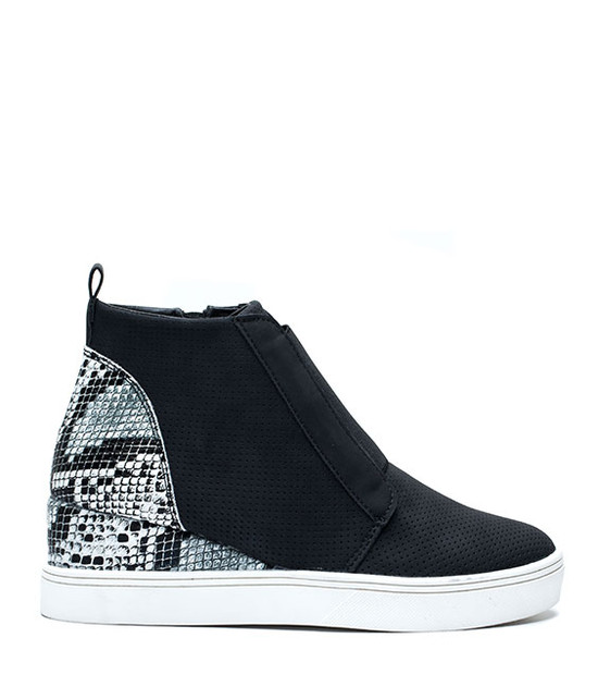 Raja New Women Wedge Sneaker Black