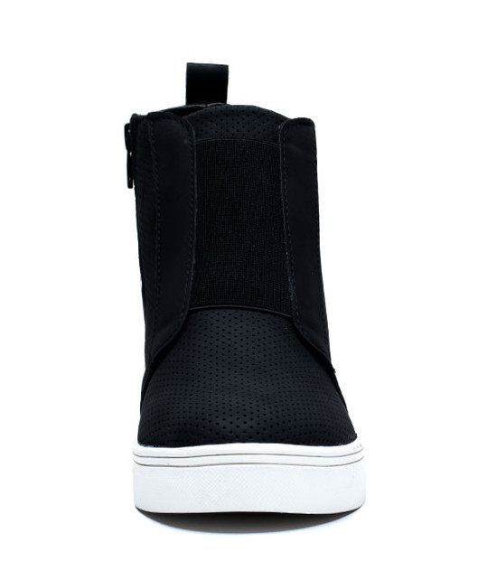 Raja Wedge Sneaker in Black